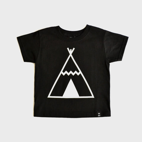 Black Teepee Tshirt - Wild Boys and Girls - 1
