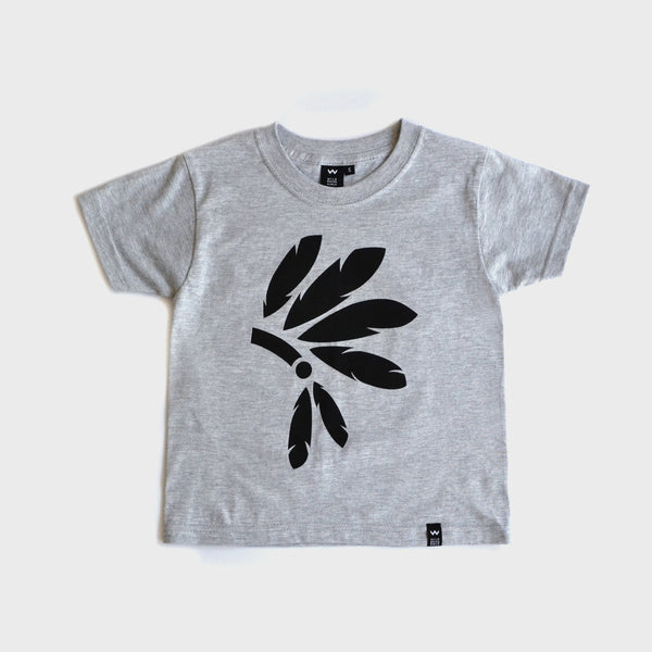 Grey Headdress Tshirt - Wild Boys and Girls - 1