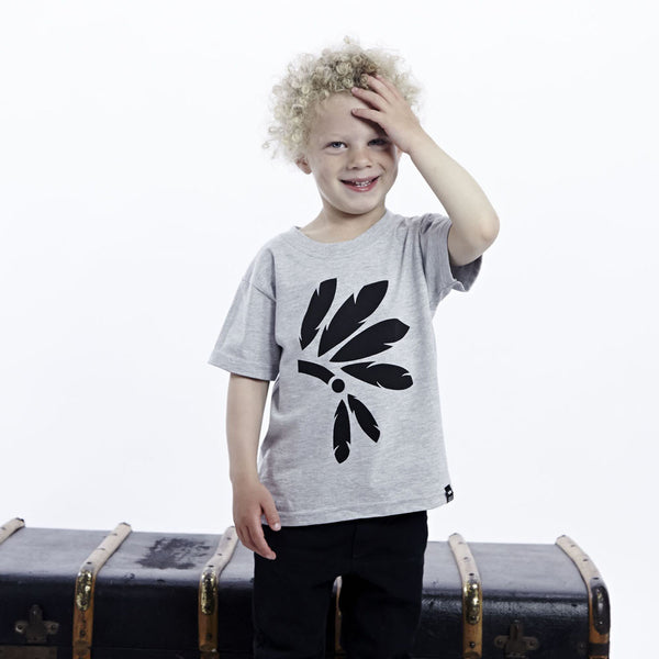 Grey Headdress Tshirt - Wild Boys and Girls - 2