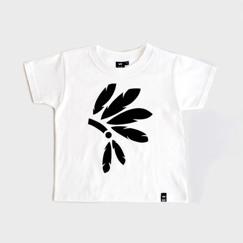 White Headdress Tshirt - Wild Boys and Girls - 1