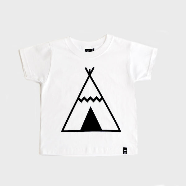 White Teepee Tshirt - Wild Boys and Girls - 1