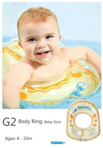 G2 Yellow Baby Body Ring + Swimava G1 Starter Ring (Value Pack)-Free Shipping - Swimava USA - 2