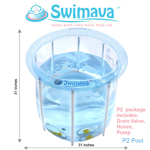 Swimava P-2 Baby Pool & Floaties Set - Large Size - Swimava USA - 3