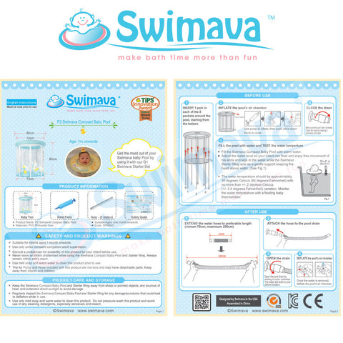 Swimava P-2 Baby Pool & Floaties Set - Large Size - Swimava USA - 15
