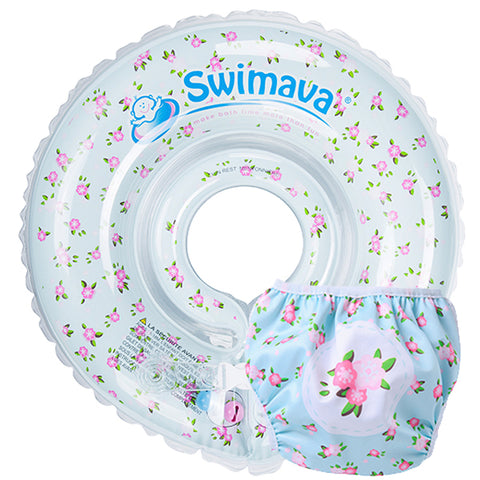 French Flower -Swimava G1 Starter Baby Neck Floatie