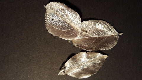 Hand made silver leaves
