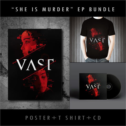 """She Is Murder"" Poster, T-Shirt and E.P Bundle (first 500 EPs are signed and numbered)"