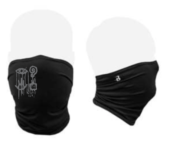 Gaiter style face mask with Vast Logo//more coming soon.