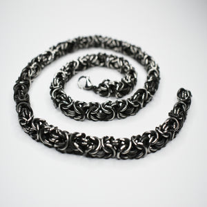 Antiqued Steel Necklace