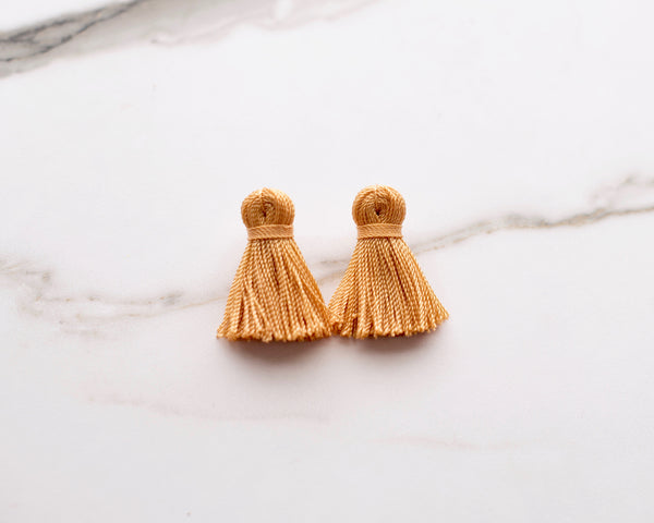 Fool's Gold Mini Tassel Earrings