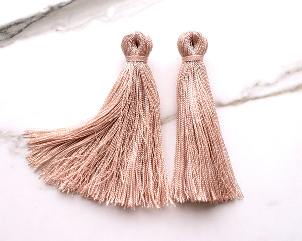 Blush Pink Tassel Earrings