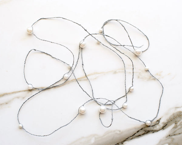 Coco Pearl Wrap in Slate Gray