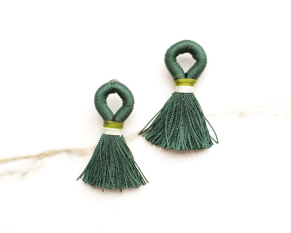 Stevie Loop Earrings in Hunter Green