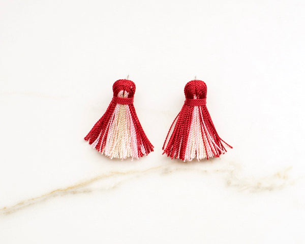 Mini Tassel Earrings in Primrose Ombré