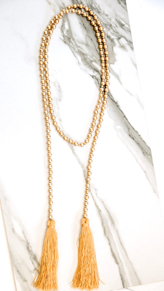 Fool's Gold Double Tassel Necklace