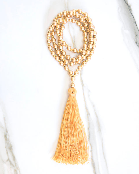 Fool's Gold Tassel Necklace