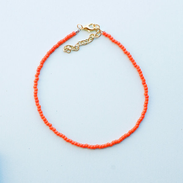 Tangerine Orange Choker