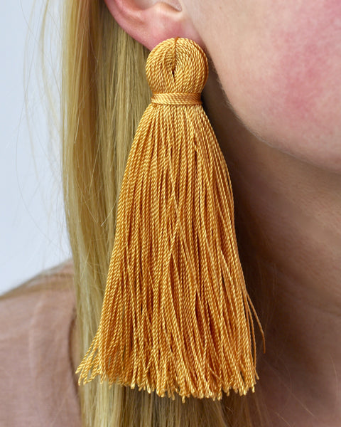 Fool's Gold Tassel Earrings