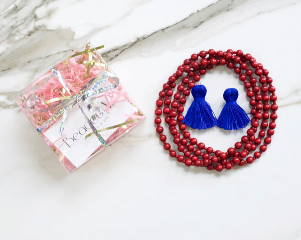 Blue & Red Gift Box