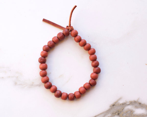 Burnt Orange Leather Bracelet