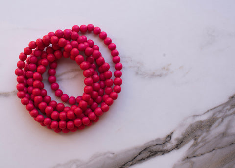 Coachella Hot Pink Double Wrap Necklace