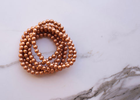 Coachella Copper Double Wrap Necklace