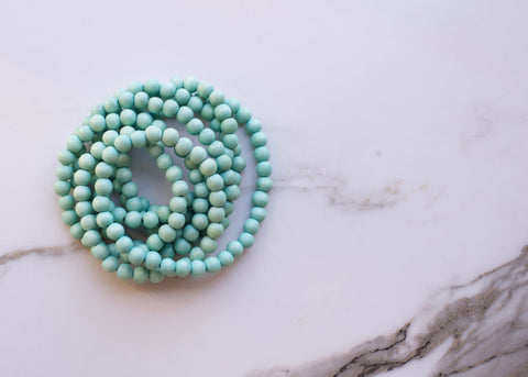 Coachella Mint Green Double Wrap Necklace