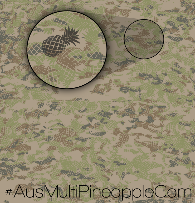 AusMultiPineappleCam Beanie (AMPC) - Bearded Lion