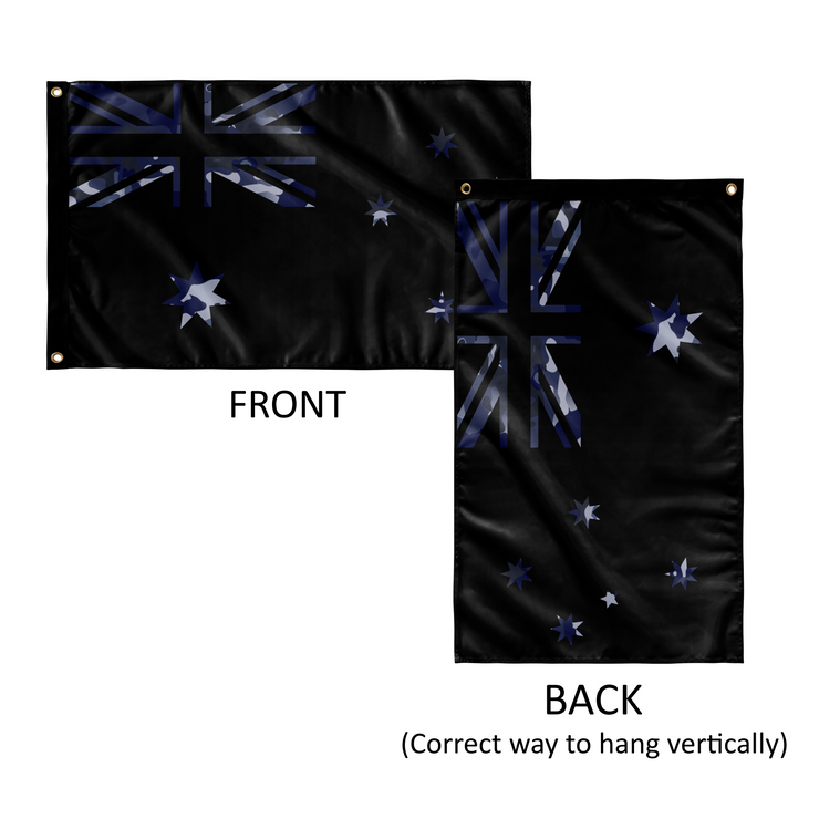 Australian Flag - RAAF Camouflage On Black