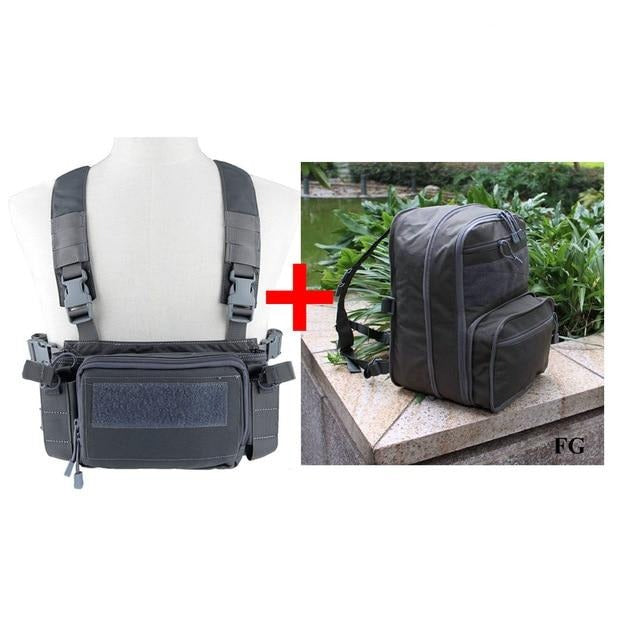 Flat Pack D3 Chest Rig Hydration Backpack