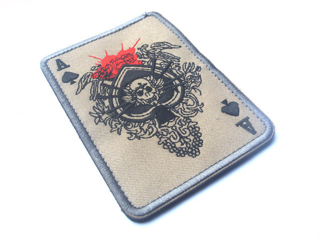 Ace Card Patch - Bearded Lion