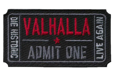 DIE HISTORIC, LIVE AGAIN - VALHALLA TICKET Patch - Bearded Lion