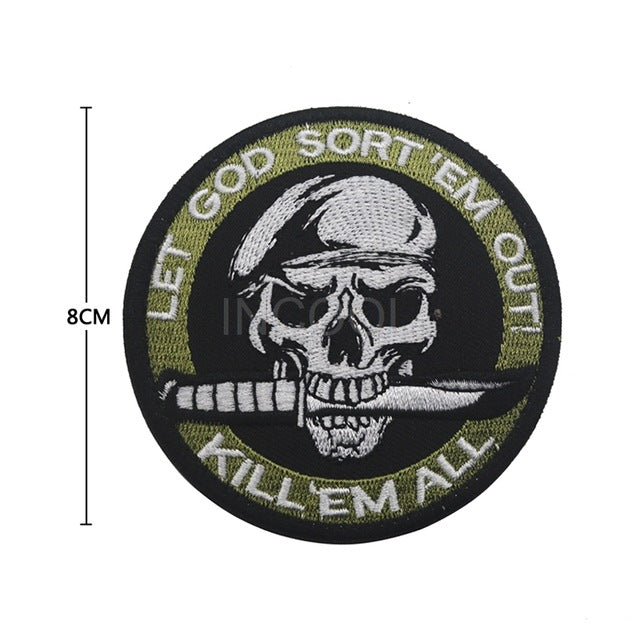 Skull Patch - Bearded Lion