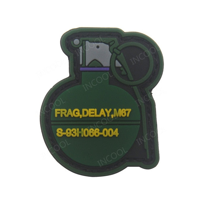 PVC Grenade Patch - Bearded Lion