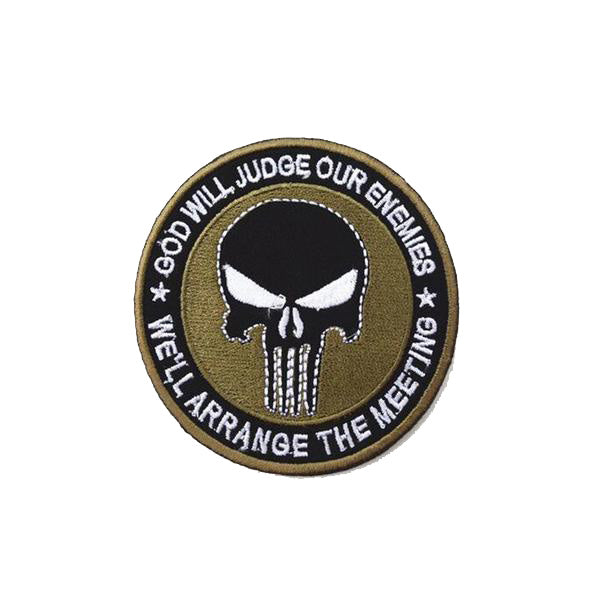 GOD WILL JUDGE OUR ENEMIES Patch - Bearded Lion