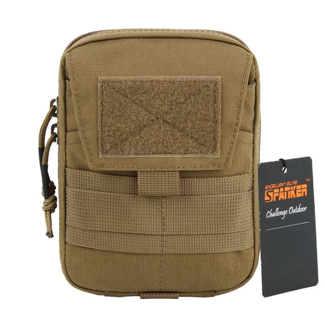 Multifunction Double Zipper Waist Bag - Bearded Lion