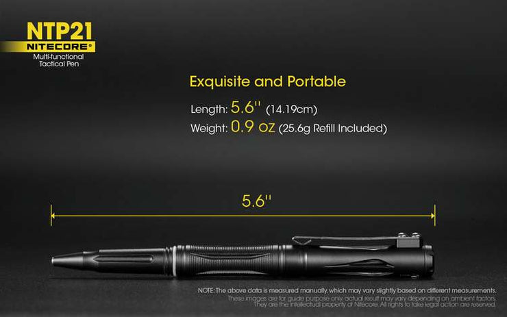 Nitecore NTP21 Tactical Pen - Bearded Lion