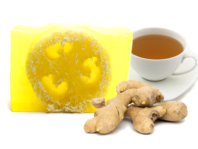 White Tea and Ginger Loofah Soap - SoapyMania