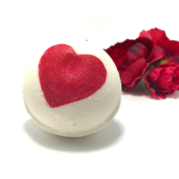 Rose Love Bath Bomb with a Surprise Inside - SoapyMania