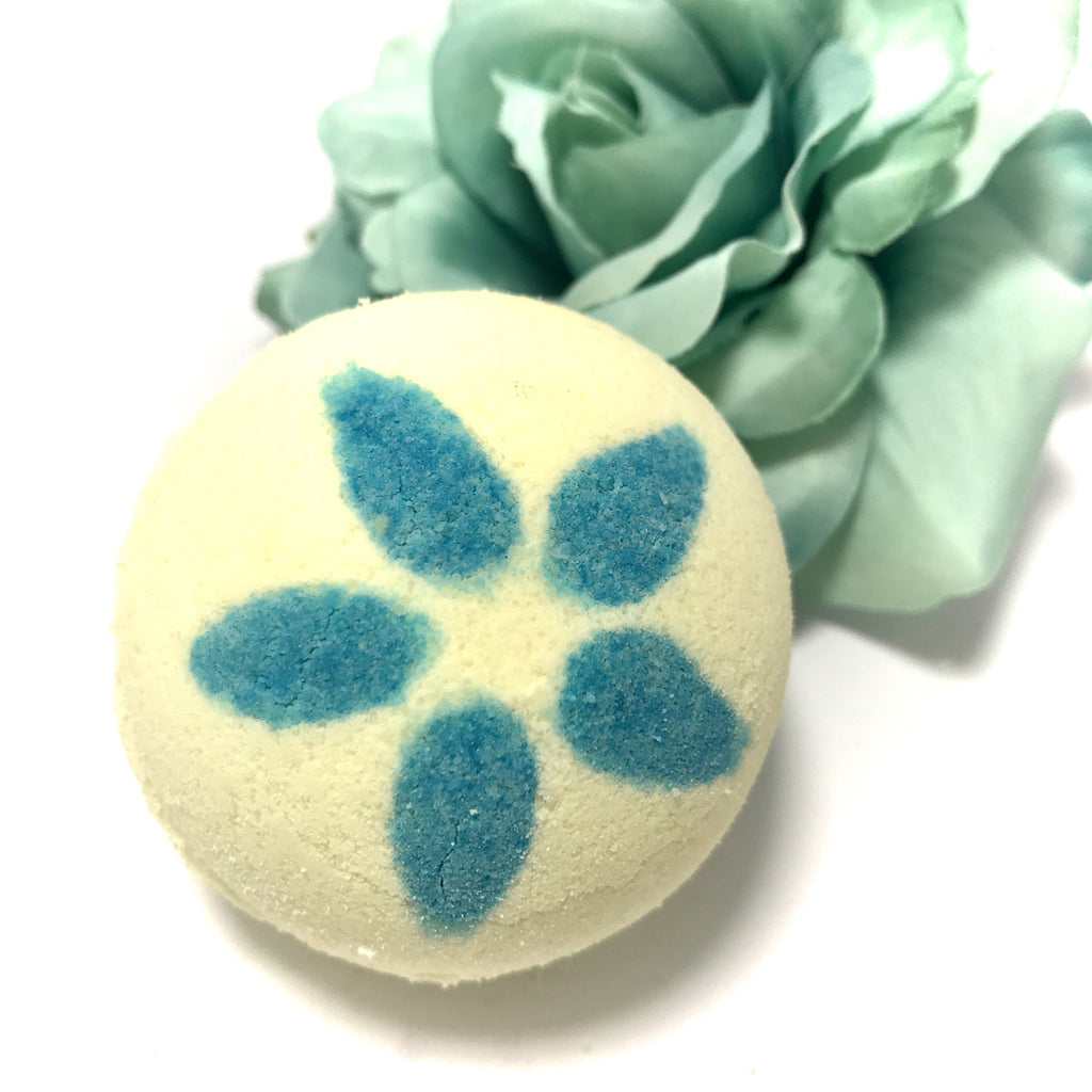 Tropical Plumeria Bath Bomb with a Surprise Inside - SoapyMania