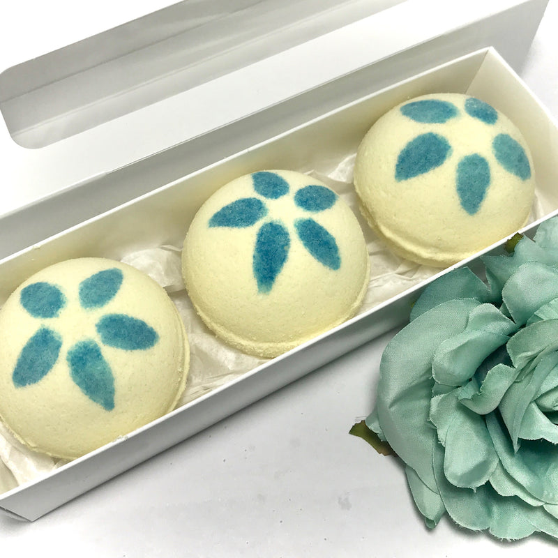 Tropical Plumeria Three Surprise Bath Bomb Set - SoapyMania