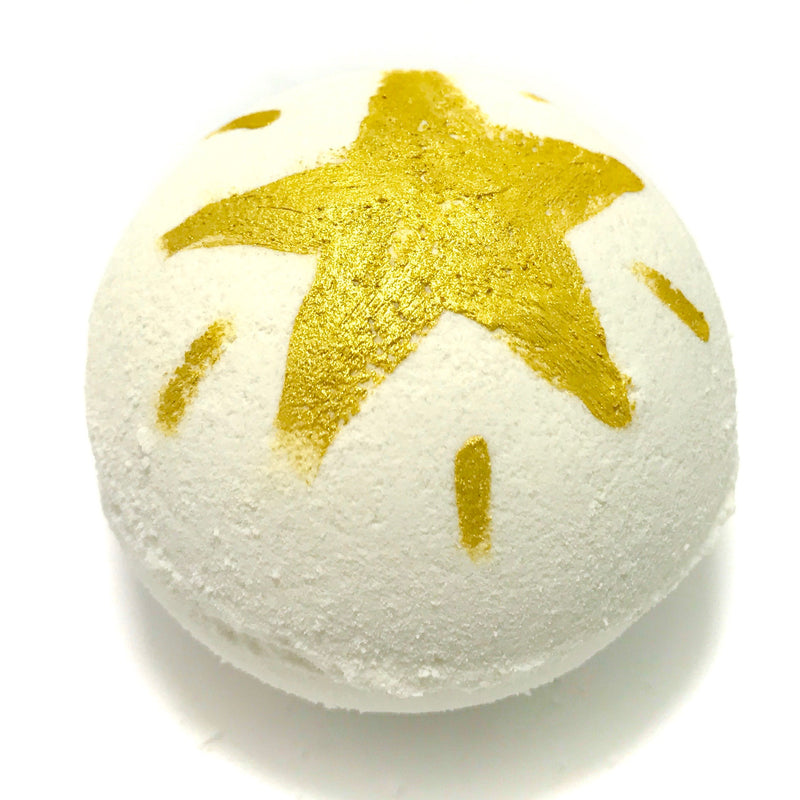 Champagne Splash Bath Bomb with a Surprise Inside - SoapyMania