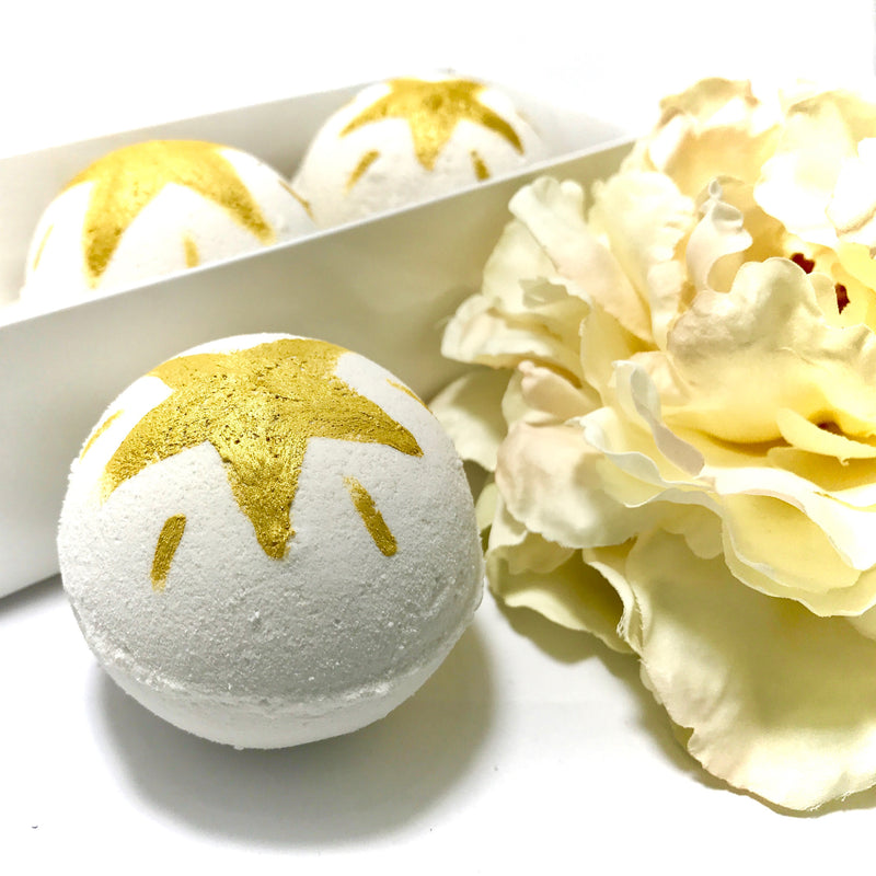 Champagne Splash Three Surprise Bath Bomb Set - SoapyMania