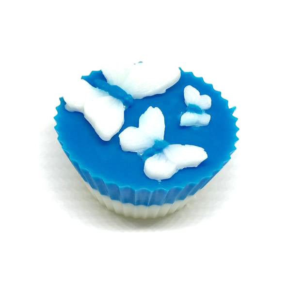 Blue Butterfly Cupcake Soap - SoapyMania