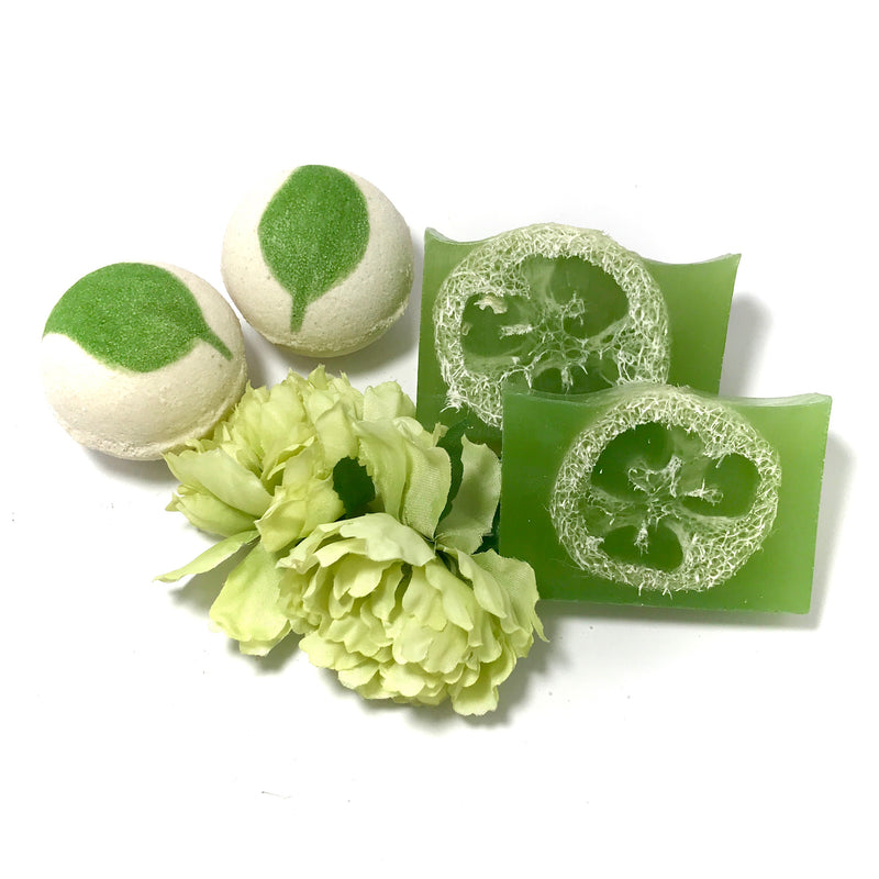 Mojito (Mint&Lime) Refreshments Set - SoapyMania