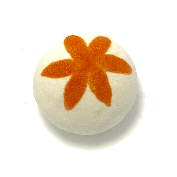 Citrus & Lily Bath Bomb with a Surprise Inside - SoapyMania