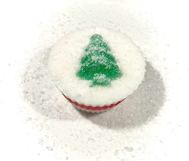 Christmas Tree Cupcake Soap - SoapyMania
