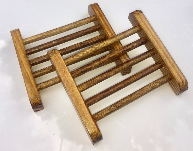 Small Ladder Wooden Soap Dish - SoapyMania