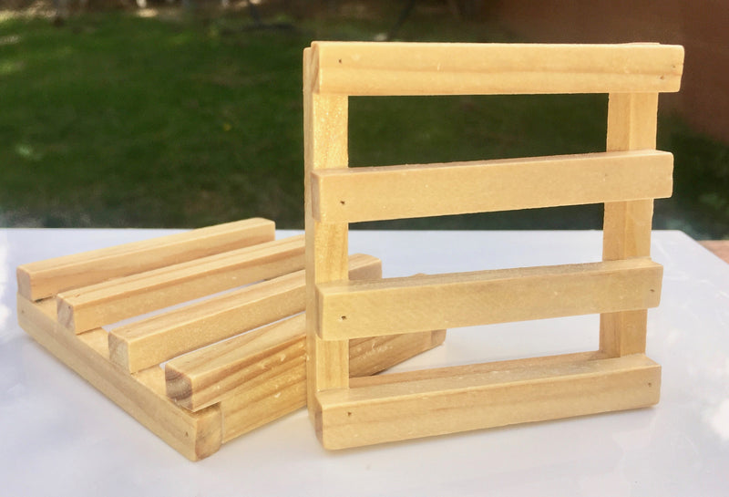 Square Ladder Wooden Soap Dish - SoapyMania
