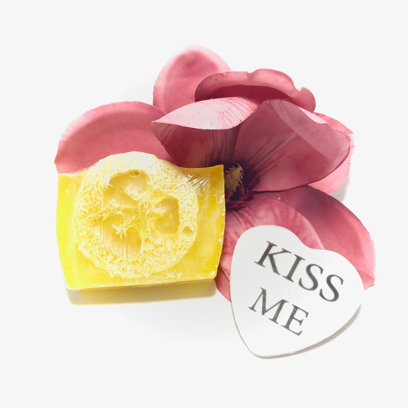 Loofah Soap with Personalized Message Picture Soap Flower Set - SoapyMania